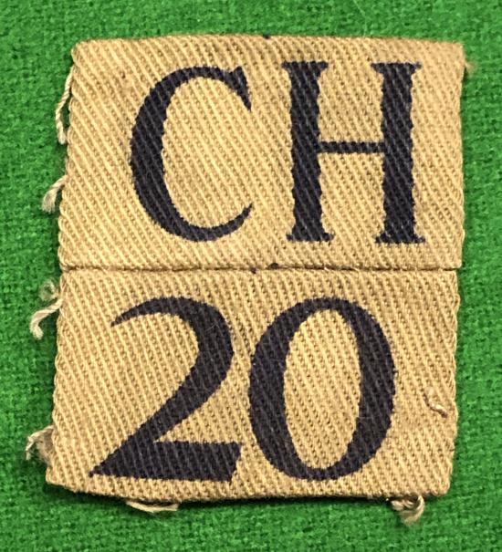 20th Cheshire (Great Sutton) Home Guard Battalion Titles.